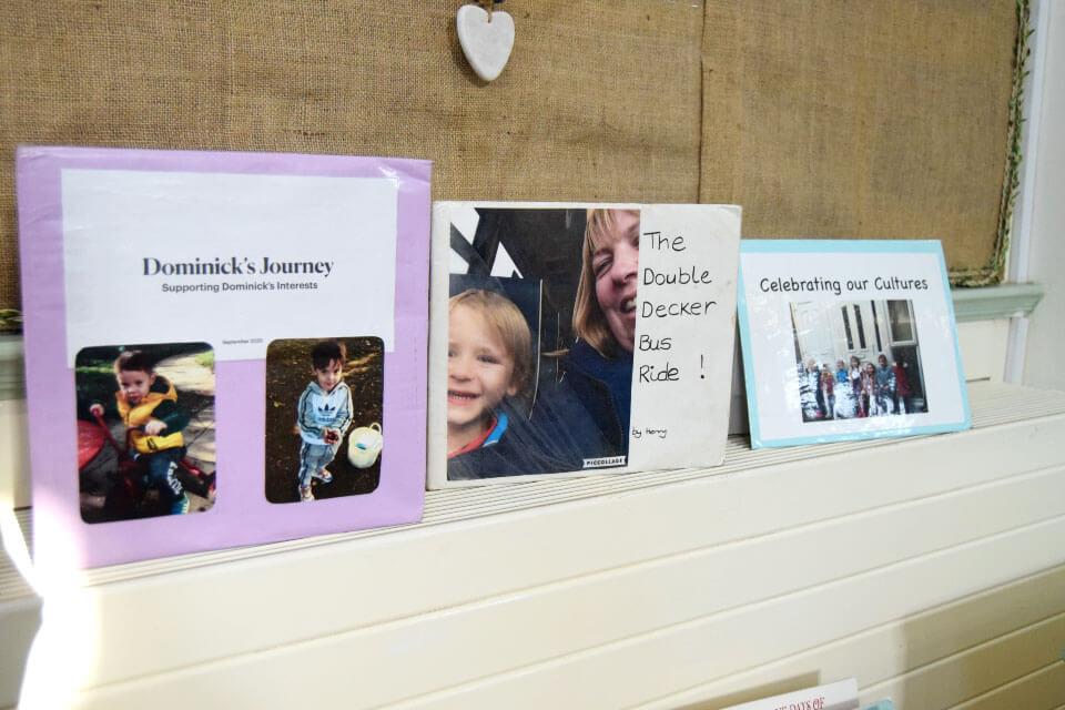 Three laminated picture books