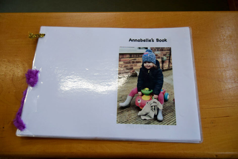 Laminated book of the child's favourite things