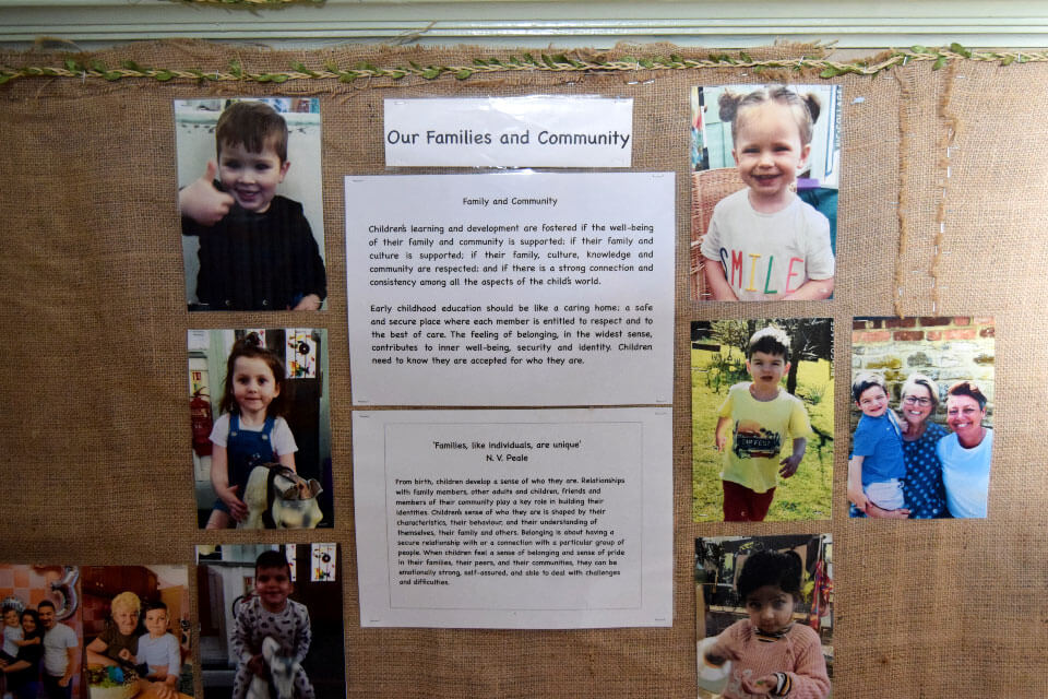 Display of child's family